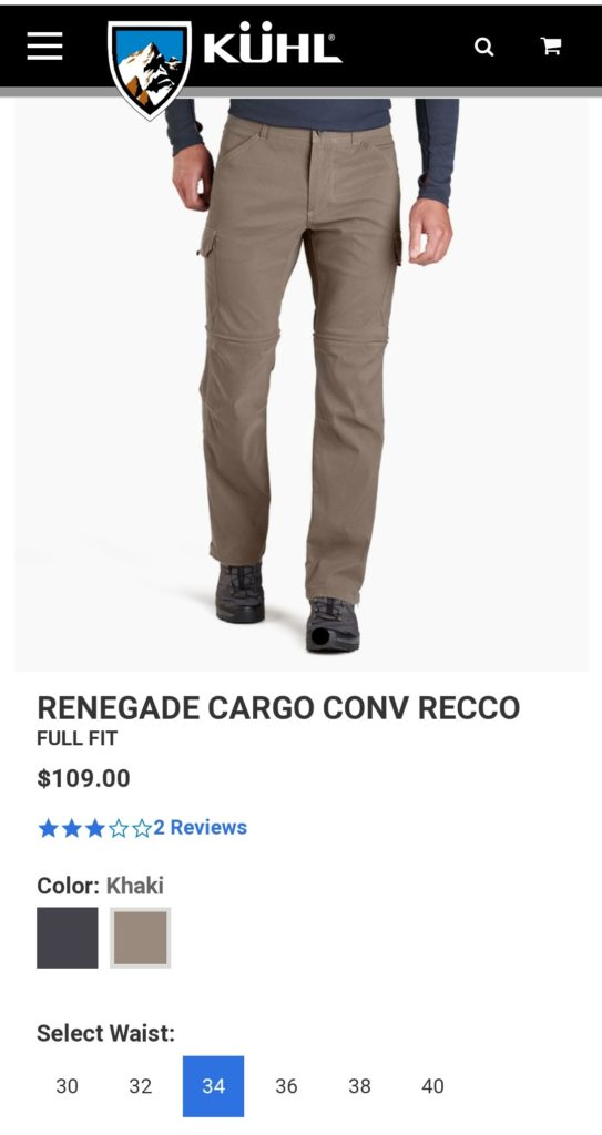 kuhl renegade gear clothing review