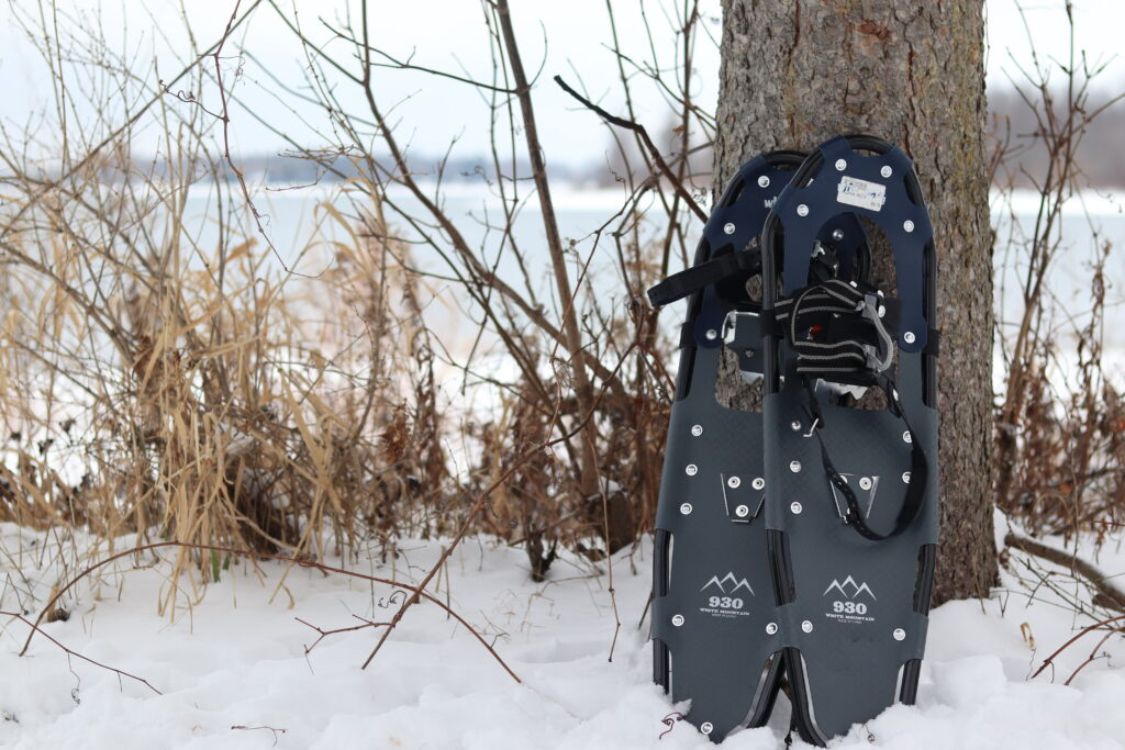 winter hiking gear, snowshoes